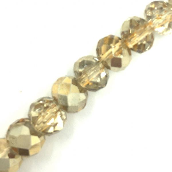 Crystal rondelle carnival beads - gold